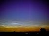 Lysende natskyer og nordlys i august