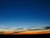 Mesosfærisk skystribe efter russisk raketopsendelse