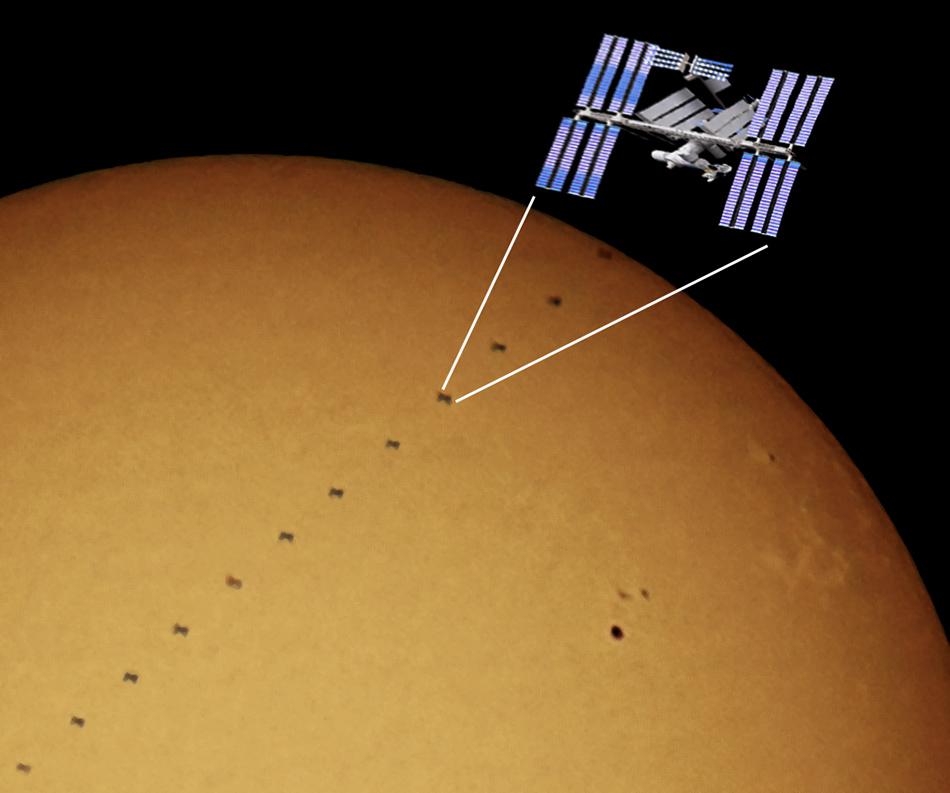ISS transit, 1000mm f/11