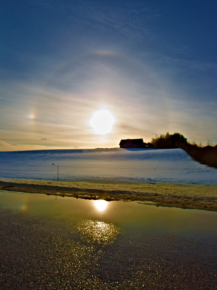 Halo and sundogs
